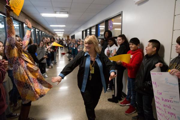 Retirement Clap Out Surprise for McCombs Principal