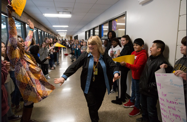 Retirement Clap Out Surprise For Mrs. Croy