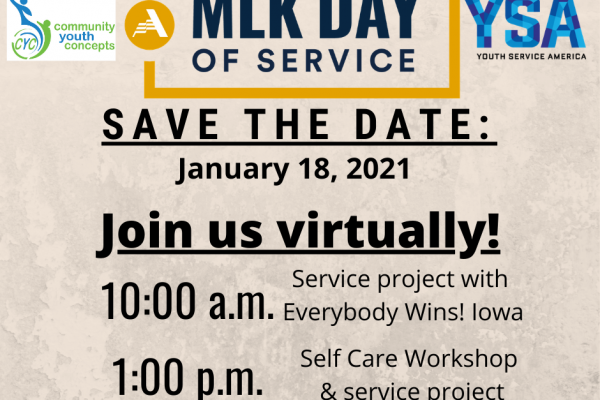 MLK Day Of Service Opportunity
